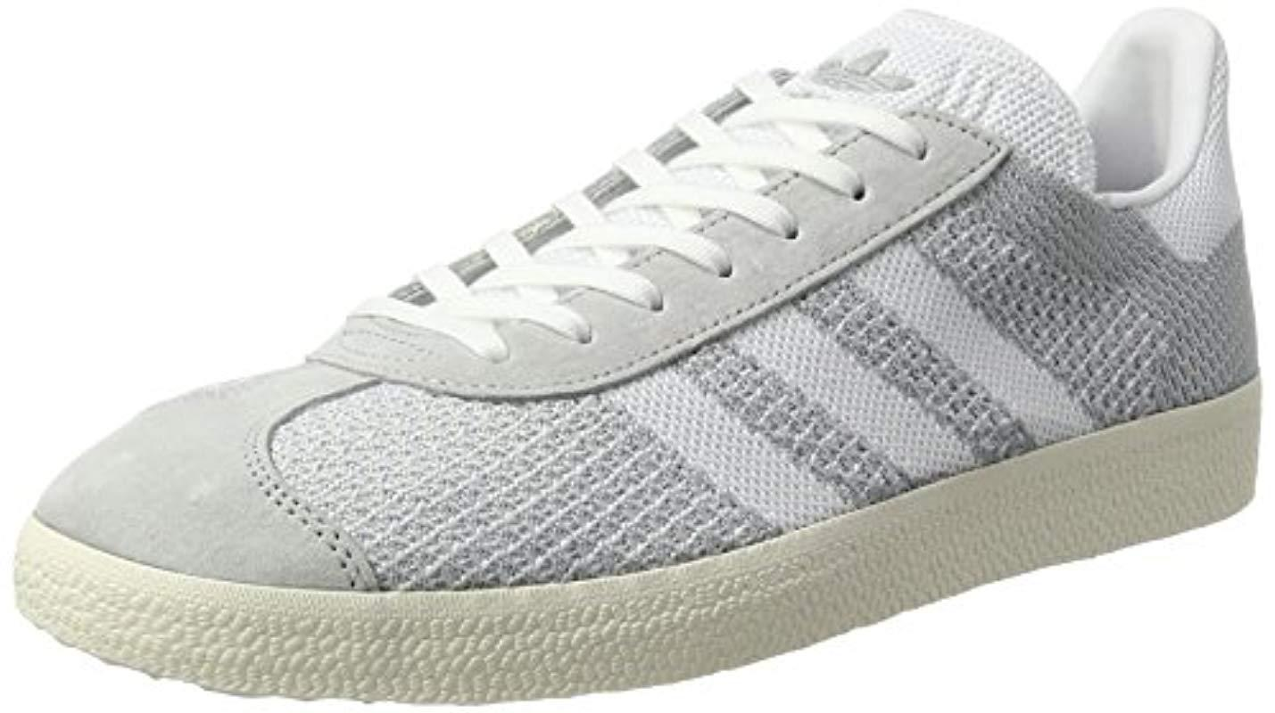 adidas Gazelle Primeknit Trainers in White for Men - Lyst 5f9f67c95