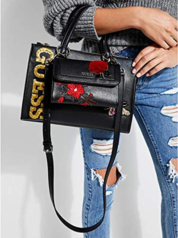 Lyst - Guess Sienna 2 In 1 Society Satchel in Black ff74d8767c