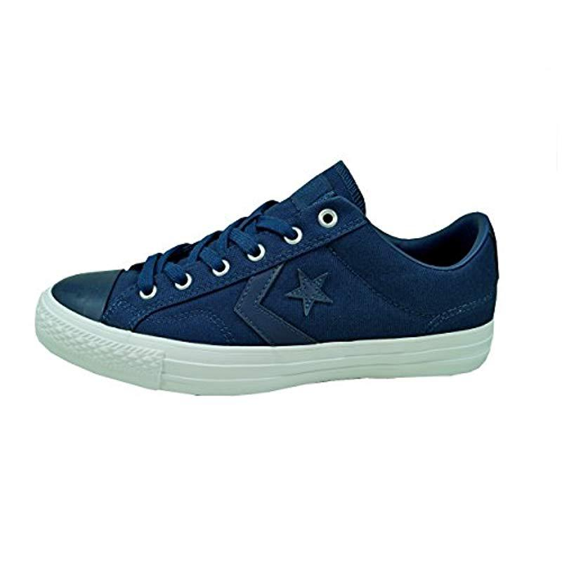 37caed6b3535ca Converse. Blue Unisex Adults  Star Player Ox Almost White black Trainers