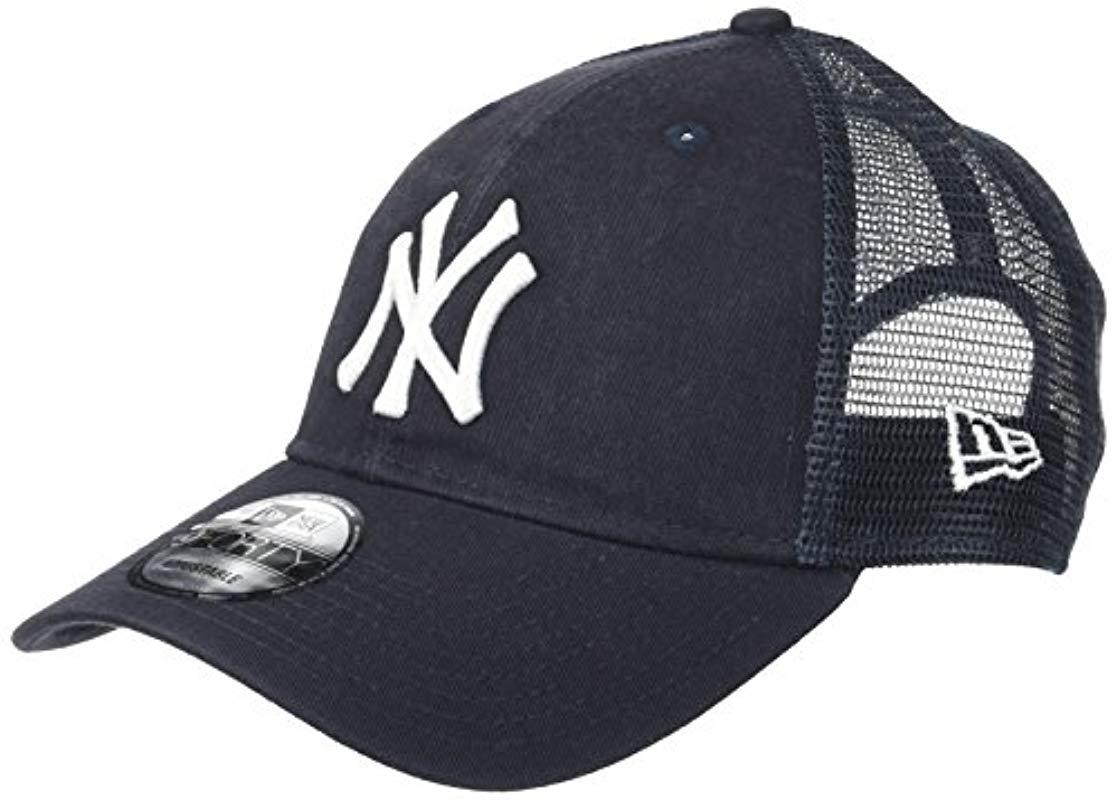 d371554238c ... greece lyst ktz new york yankees 9forty mlb trucker washed adjustable  hat 9740a 734d9