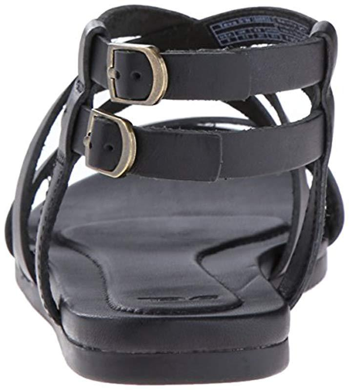 e397c728fbfb Teva - Black Avalina Crossover Leather Sandal - Lyst. View fullscreen