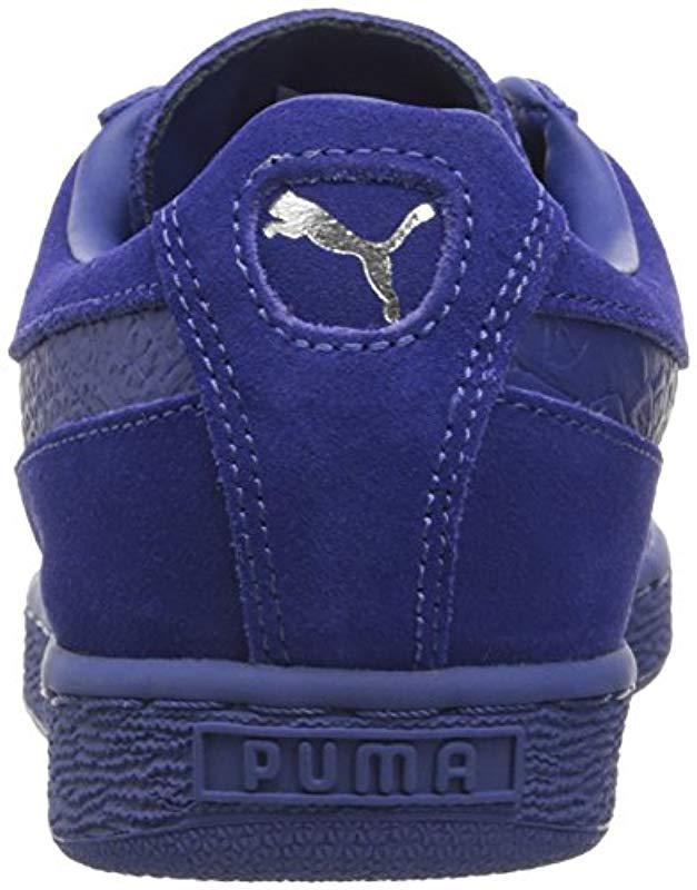 Lyst - PUMA Suede Classic Mono Reptile Fashion Sneaker in Blue for Men -  Save 61% 8c6731d9f