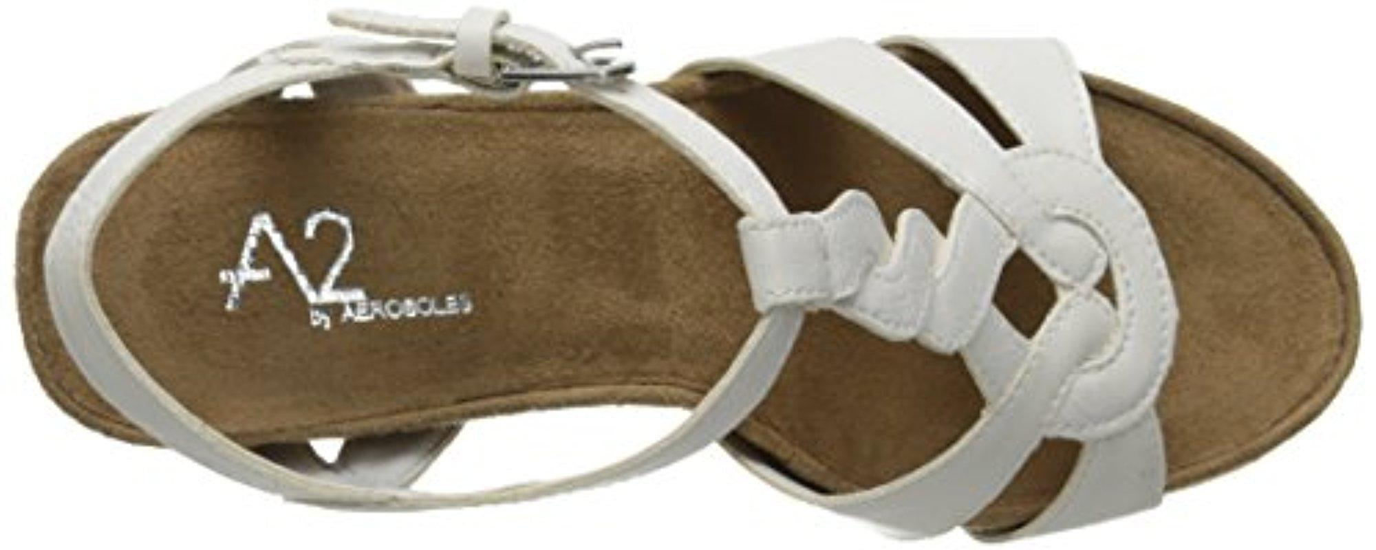 407259da1fd0 Lyst - Aerosoles A2 By Stone Plush Wedge Sandal in White
