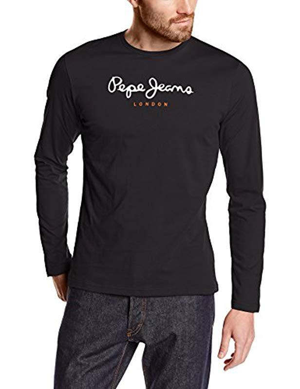 edc95cf36dd Pepe Jeans T-shirt in Black for Men - Lyst