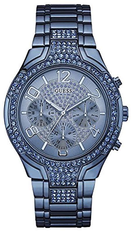 96326160ab13 Guess. Reloj analogico para Mujer de Cuarzo con Correa en Acero Inoxidable  ...