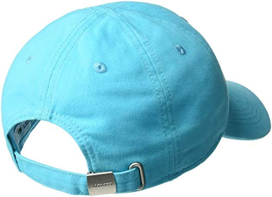 9cb9591231b13c Lacoste - Blue S Big Croc  Gabardine Cap for Men - Lyst. View fullscreen