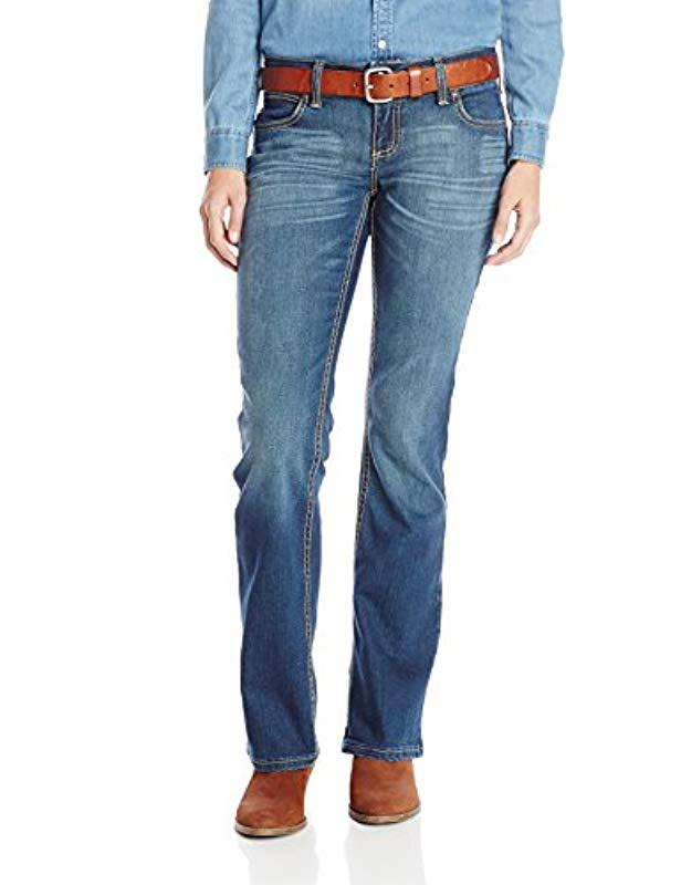 70c793d8 Wrangler. Women's Blue Premium Patch Booty Up Technology Sits Above Hip  Jeans