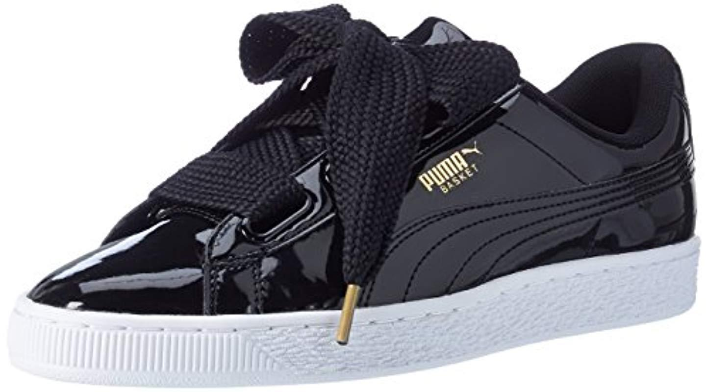 Puma  s Basket Heart Patent Wn s Low-top Sneakers in Black - Save ... 277284b34d