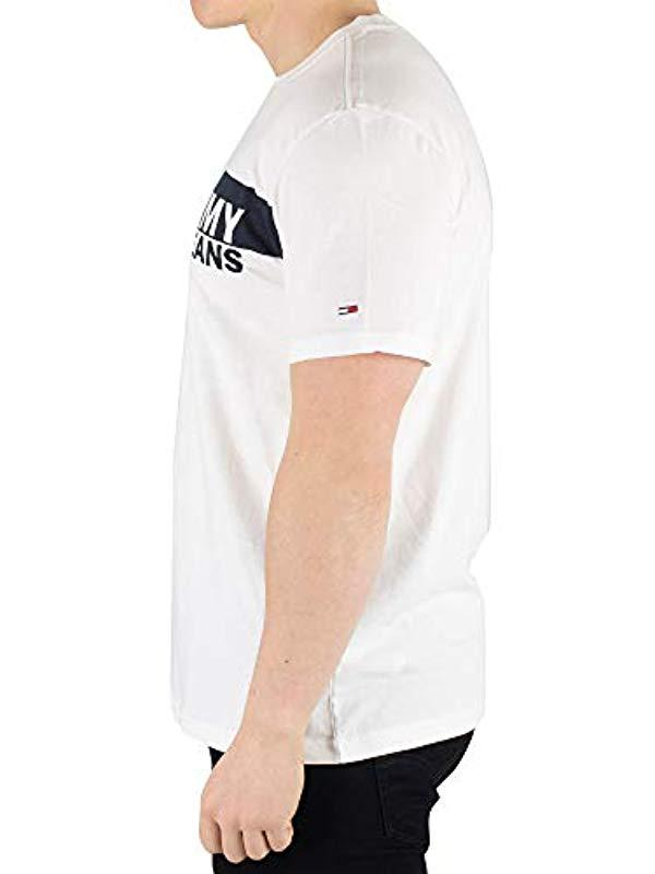b3d6cf1c Tommy Hilfiger 's Tjm Essential Box Logo Tee T in White for Men - Lyst