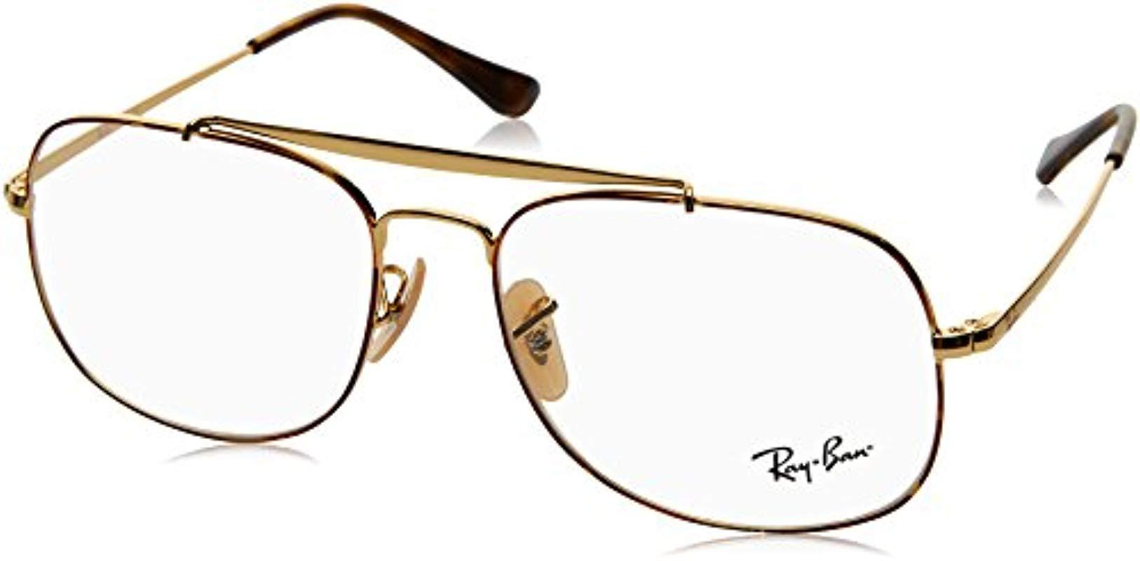 441a165840 Ray-Ban Rx6389 2945 55 The General Glasses In Gold Rx6389 2945 55 in ...