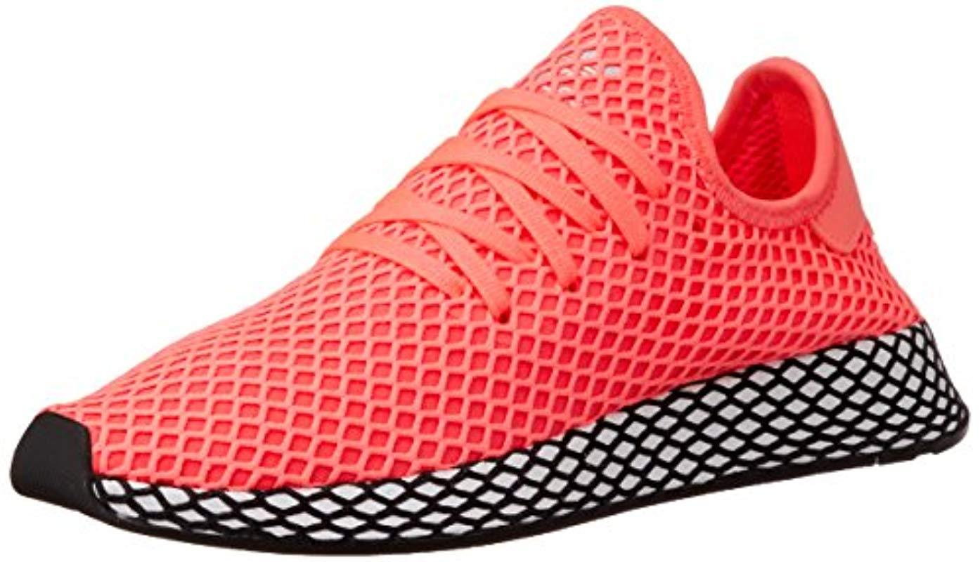 purchase cheap a4130 1e1c3 adidas Deerupt Runner Fitness Shoes in Red for Men - Lyst