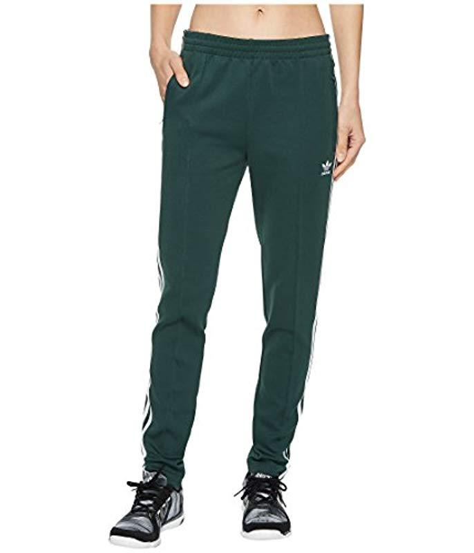 cheap for discount 4f8d0 88ec4 adidas Originals. Women s Green Superstar Trackpants