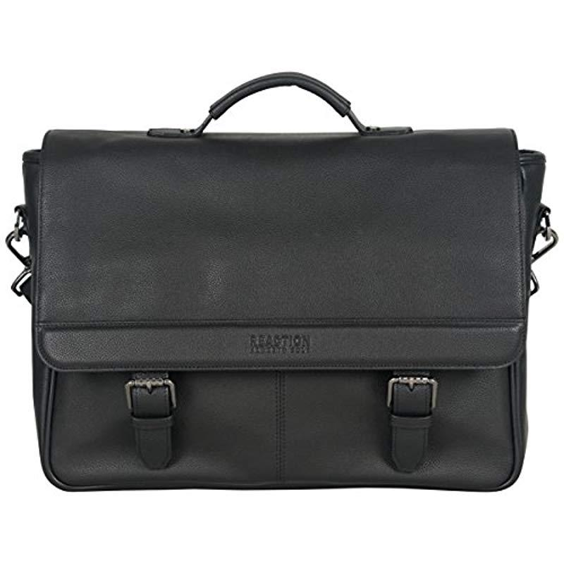 65266e619 Lyst - Kenneth Cole Reaction Leather Single Compartment Flapover ...