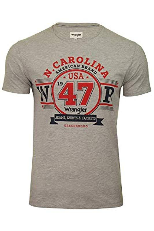 Wrangler Americana Logo Te T-shirt in Gray for Men - Lyst 4ea27e838a3