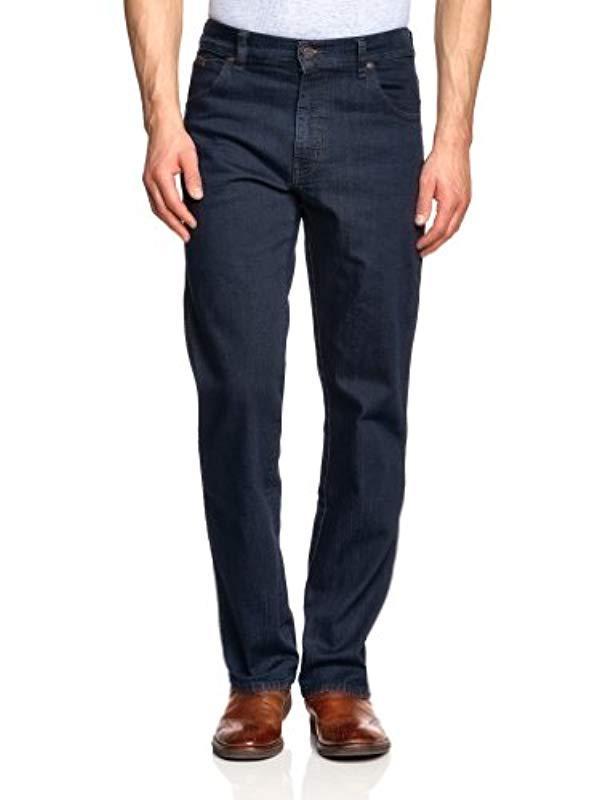 22449e9fd63a Wrangler Texas Stretch Regular Jeans, Blue, W33 l30 in Blue for Men ...