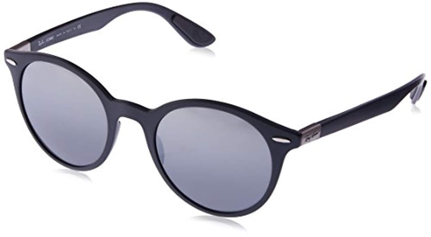 e8f0e09e9f9 Ray-Ban Lightforce Round Sunglasses In Matte Dark Grey Rb4296 633288 ...