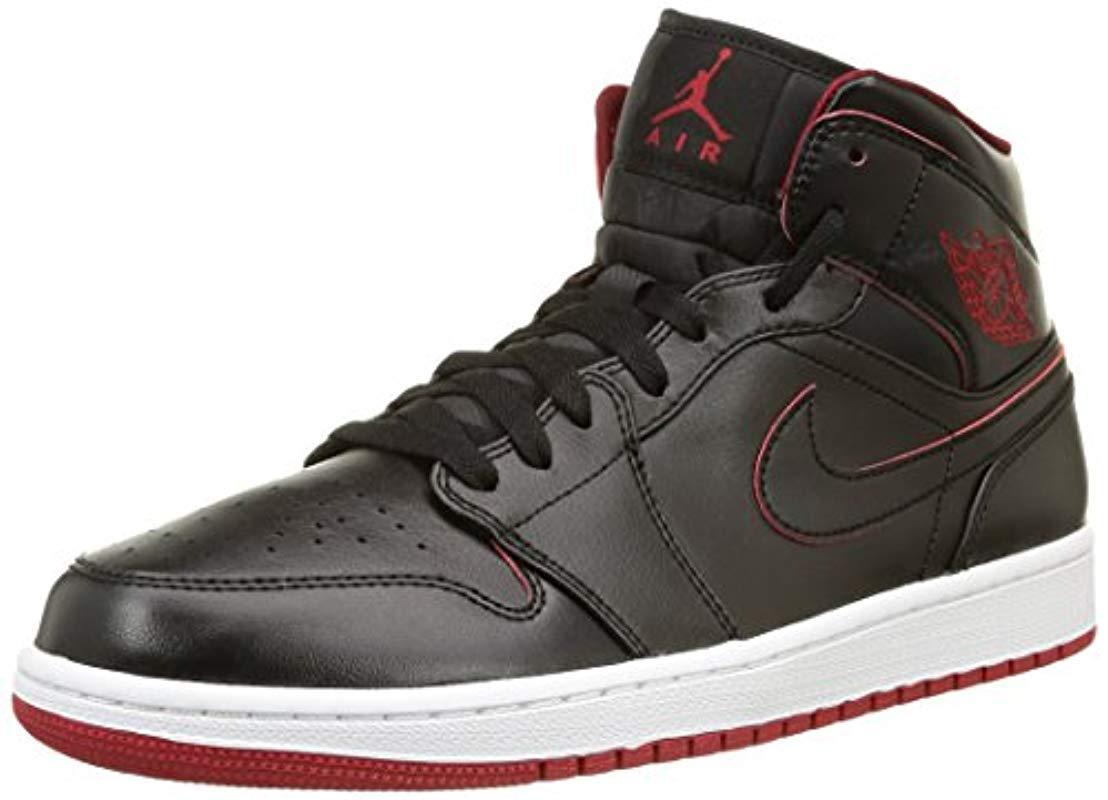 57f6187082a87d Nike Air Jordan 1 Mid Hi-top Sneakers in Black for Men - Lyst