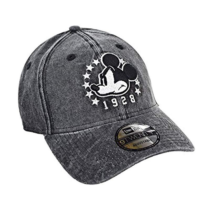 Lyst - KTZ Mickey Mouse 1928 Rugged Wash Snapback Hat Cap Anthracite ... 7faa0a60db41