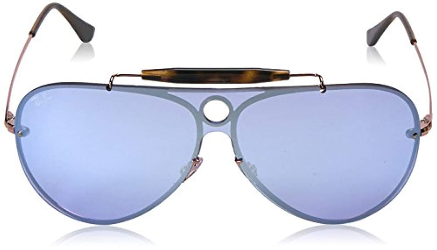 69032bd8145 Ray-Ban - Black Blaze Shooter Sunglasses In Copper Silver Violet Mirror  Rb3581n 90351u 32. View fullscreen