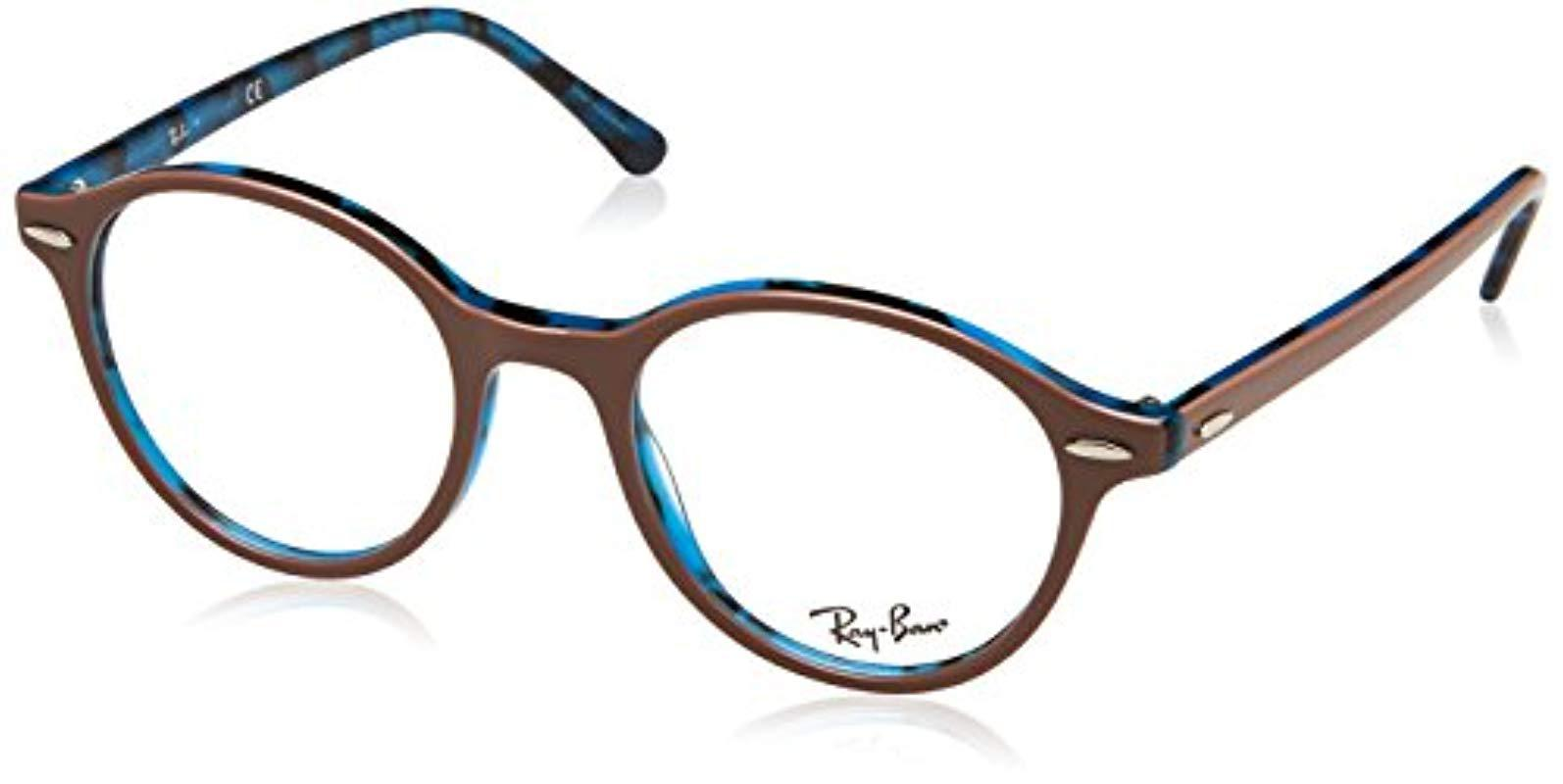 8d9c72beef Ray-Ban Rx7118 5715 50 Dean Glasses In Brown Havana Blue Rx7118 5715 ...