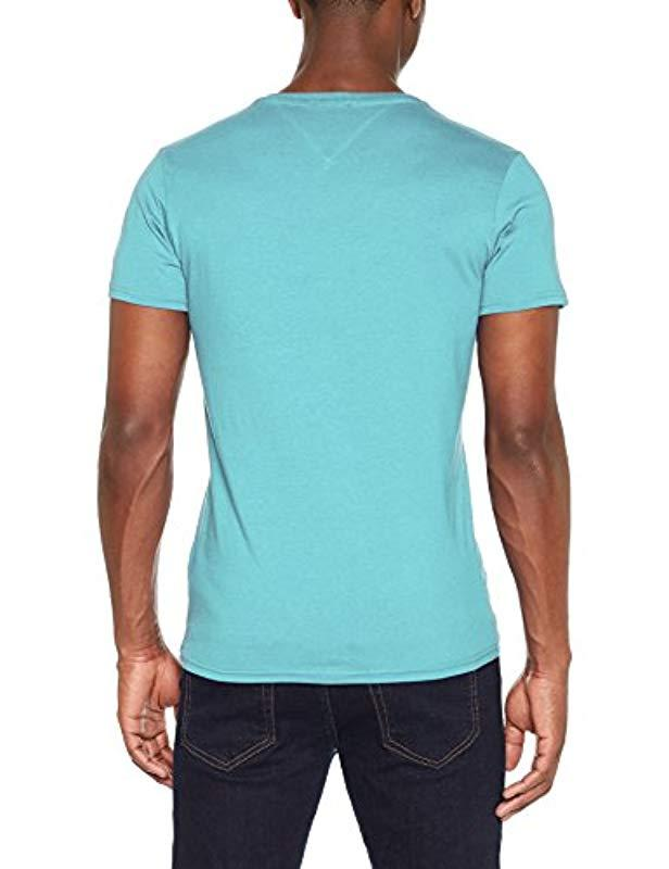 4259357a Tommy Hilfiger Basic Knit Short Sleeve T-shirt in Blue for Men - Lyst