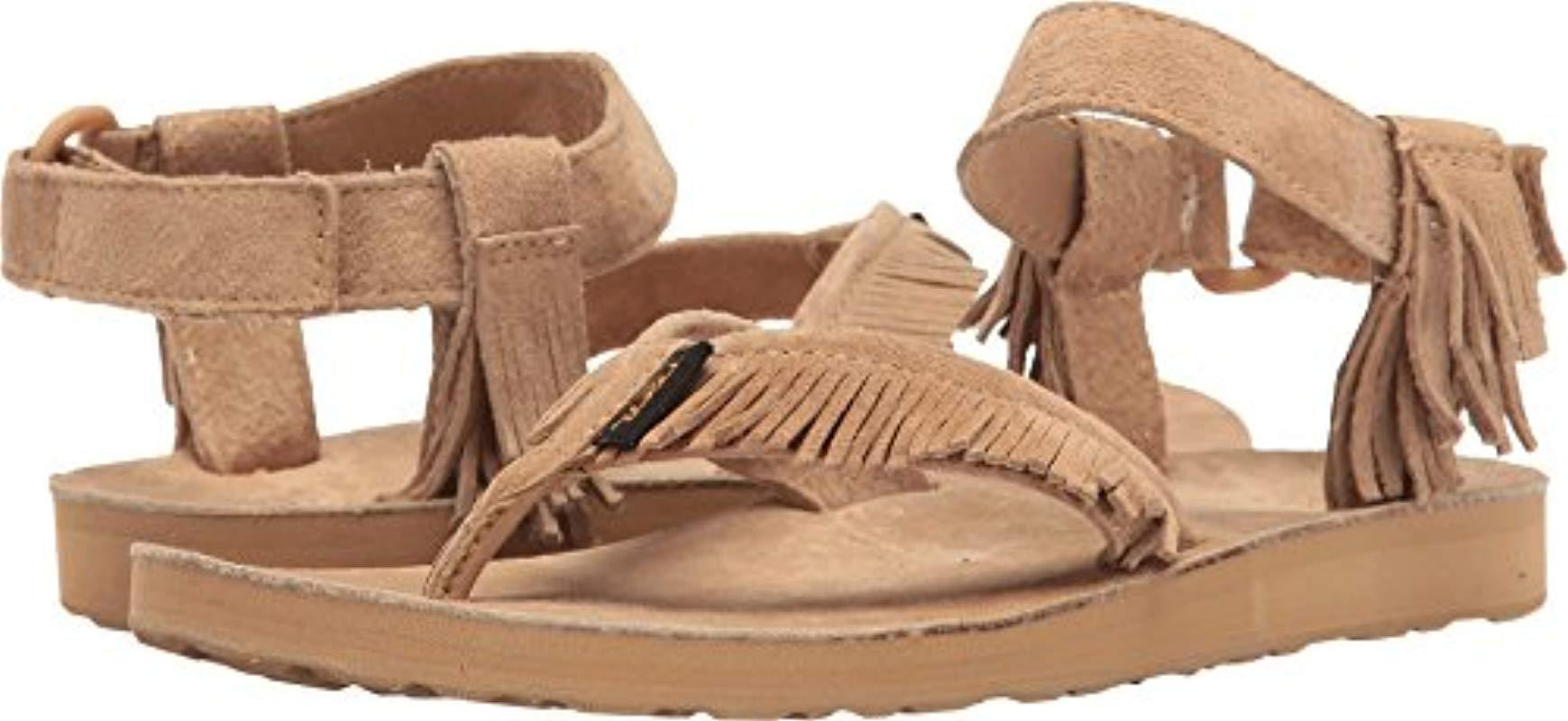 37a25441bc71 Lyst - Teva W Original Leather Fringe Sandal in Brown - Save 32%