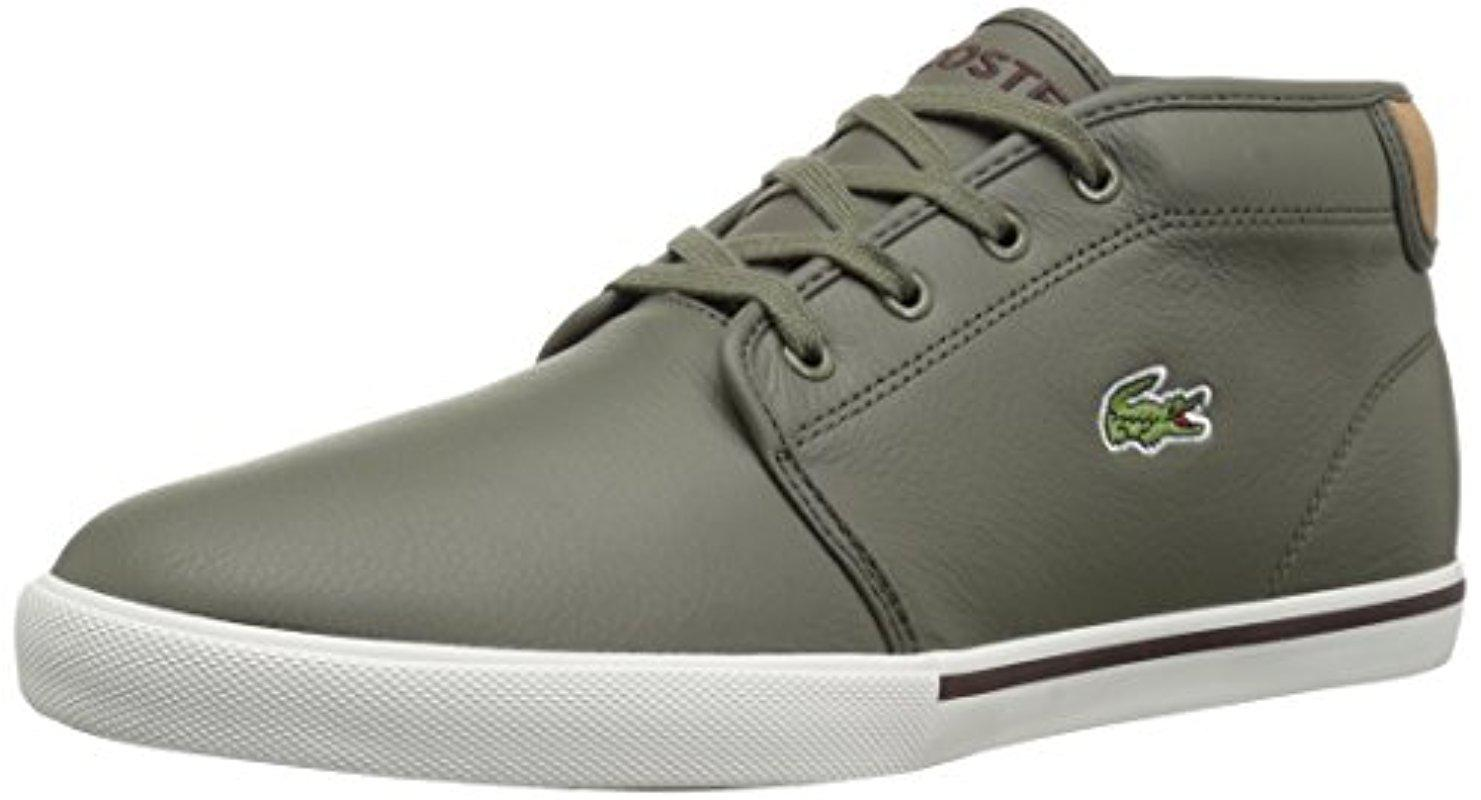 b68e22d45 Lyst - Lacoste  s Ampthill Chukka Sneakers in Green for Men