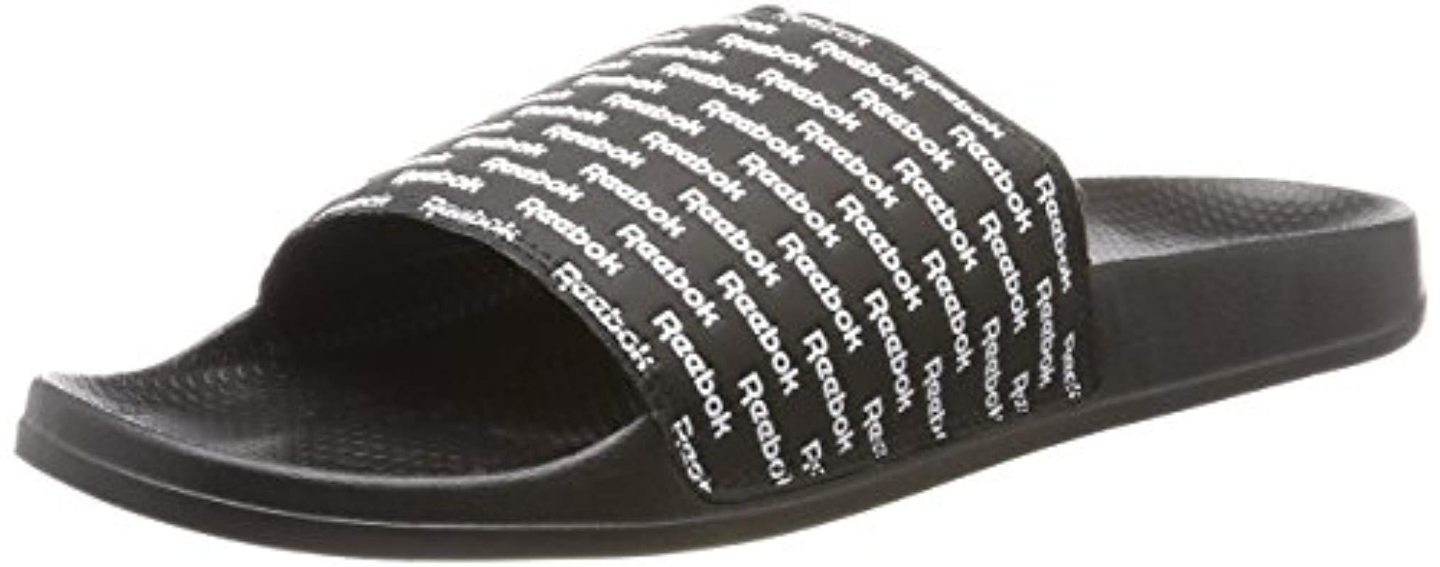 d7213a311b24 Reebok  s Classic Slide Beach And Pool Shoes in Black for Men - Lyst