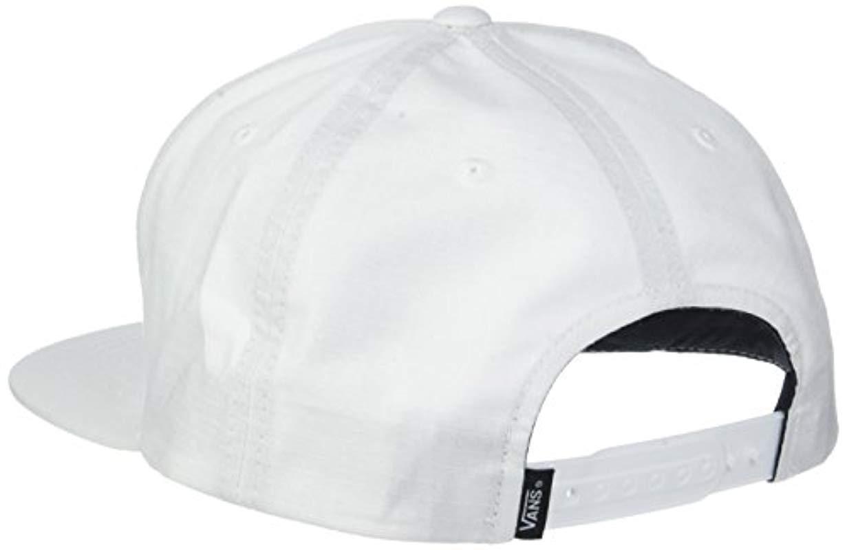 4e9eb9f25d3 Vans - White Full Patch Barbed Snapback Baseball Cap for Men - Lyst. View  fullscreen