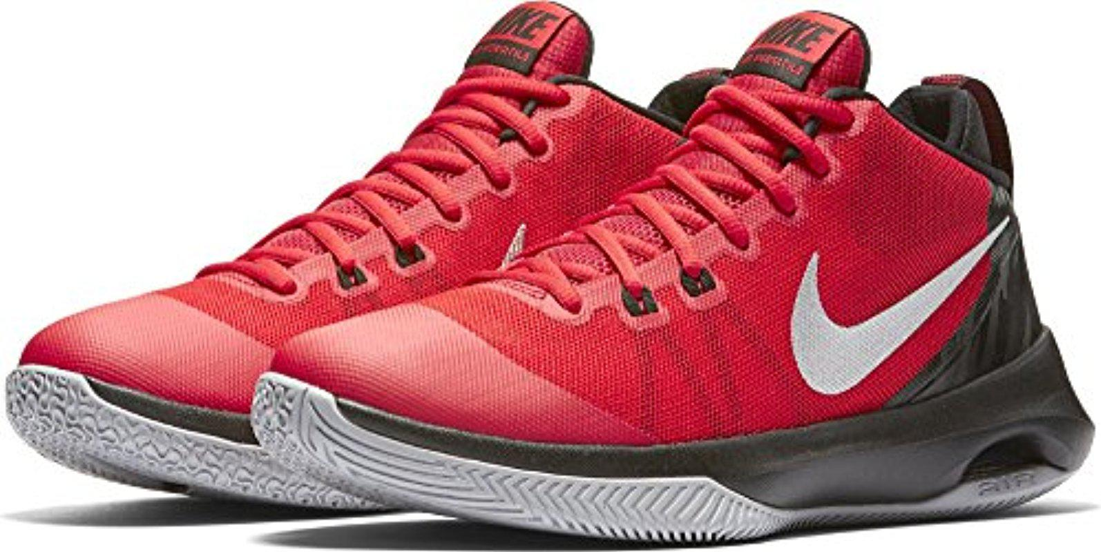 3e9a130636b Lyst - Nike Air Versitile Nubuck Basketball Shoes in Red for Men