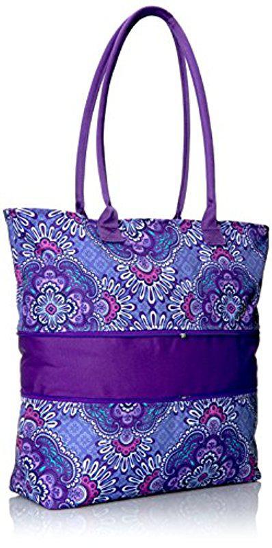 Vera Bradley - Purple Lighten Up Expandable Travel Tote aa07f57a083c0