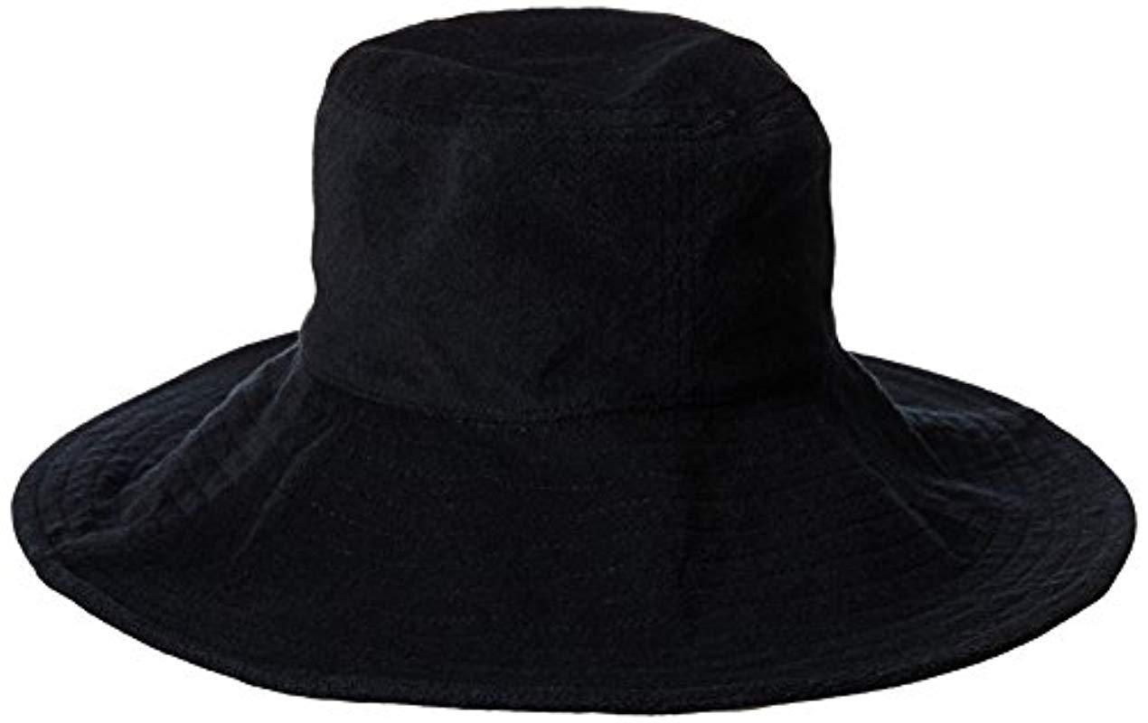 52d2c00f1fa Gottex. Women s Black Tara Micro-terry Packable Sun Hat ...