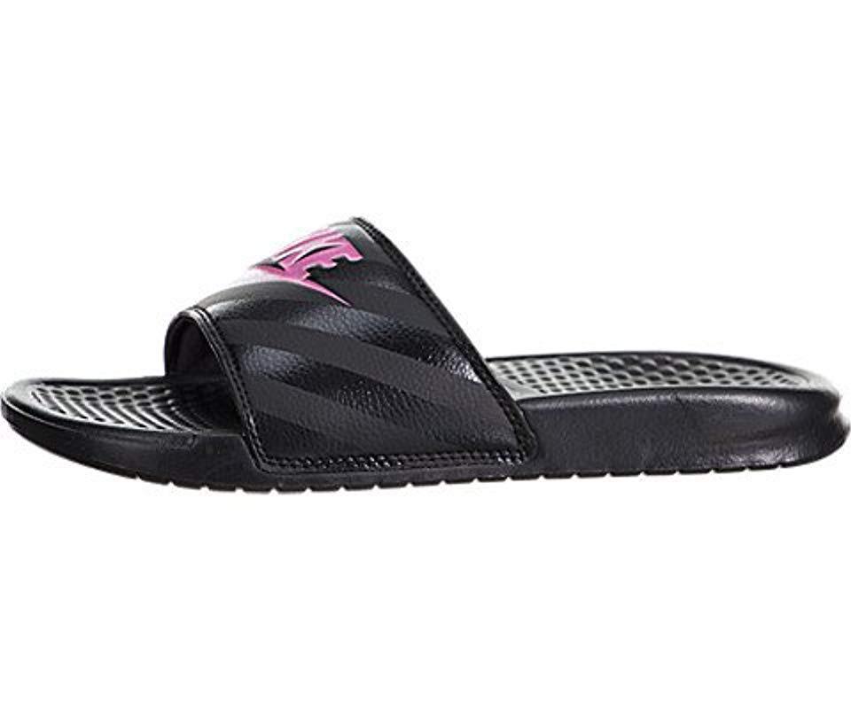 caf36f009817 Lyst - Nike Benassi Just Do It Walking Shoe in Black
