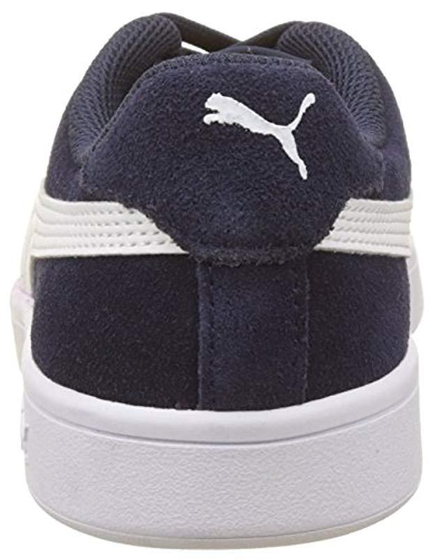 Puma Unisex Adults Smash V2 Low-top Sneakers in Blue for Men - Lyst 3ca1f757f