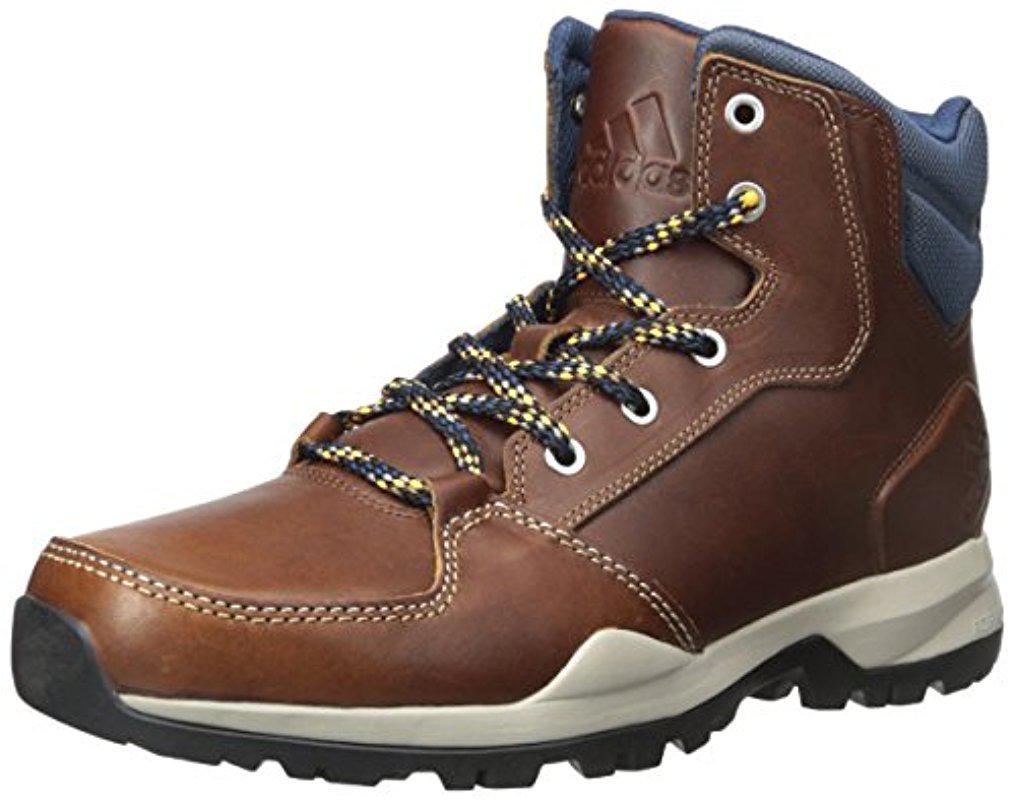 lyst adidas rockstack metà cuoio boot in marrone per gli uomini.