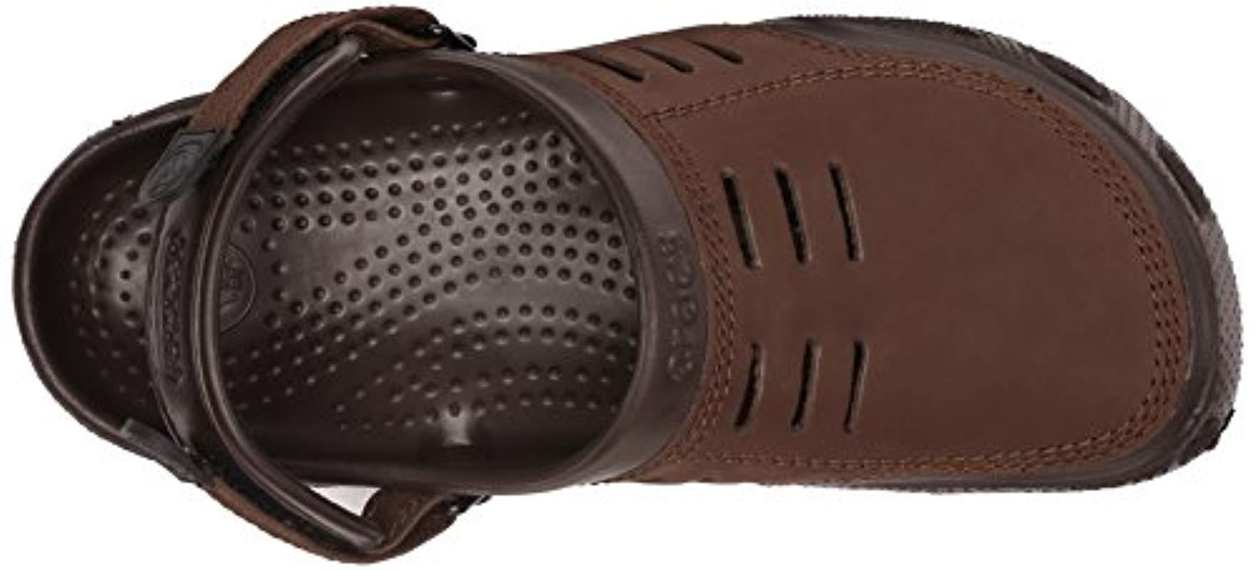b2cbb9c82 Crocs™ Yukon Sport Clogs in Brown for Men - Lyst