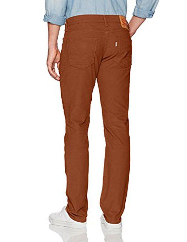 45976ecb Lyst - Levi's 511 Slim Fit Corduroy Jean in Brown for Men