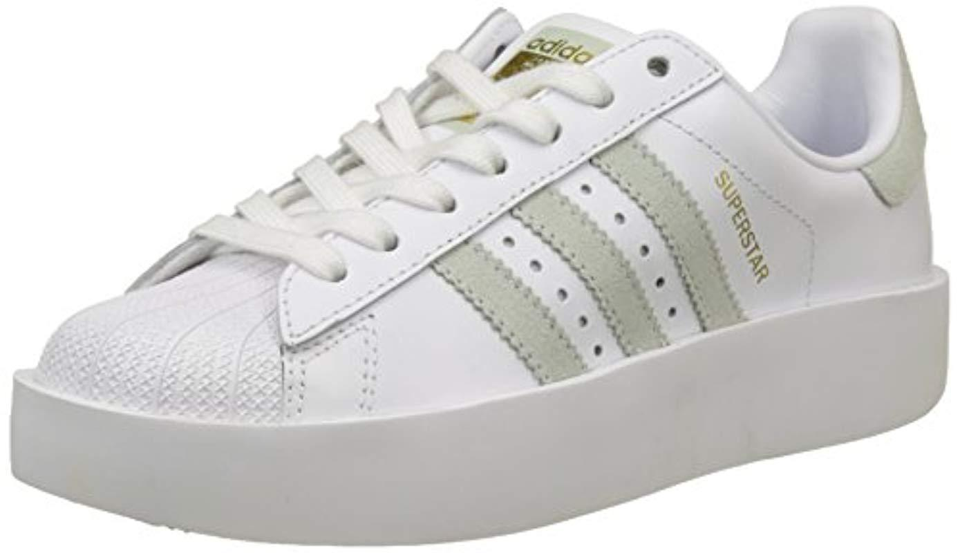 Superstar Low Sneakers Lyst top in White Adidas W 's Bold wCRvRq
