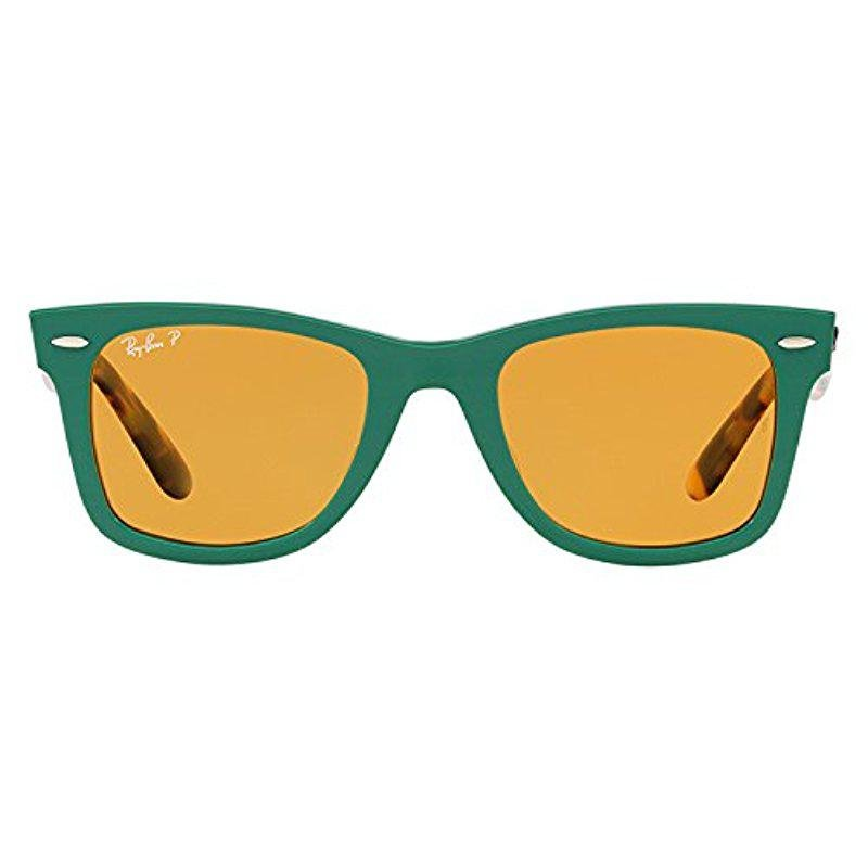 3b92454ea1 order ray ban wayfarer polarized green yellow 66664 0da94