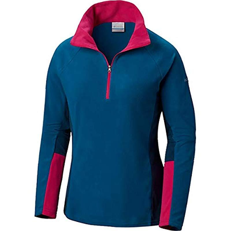 a5ba3a366cfc4 Lyst - Columbia Glacial Iv Half Zip Pullover Fleece in Blue
