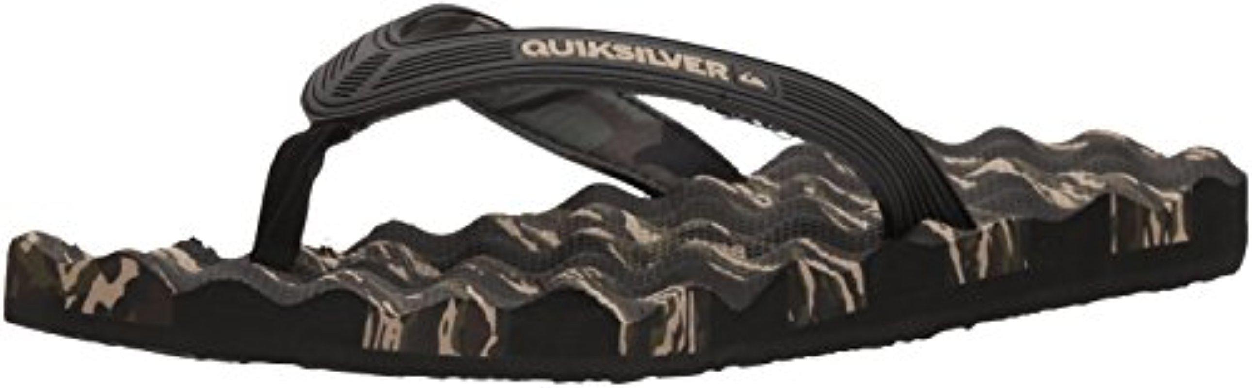 96f69a249a08 Lyst - Quiksilver Massage 3 Point Flip-flop Sandal in Black