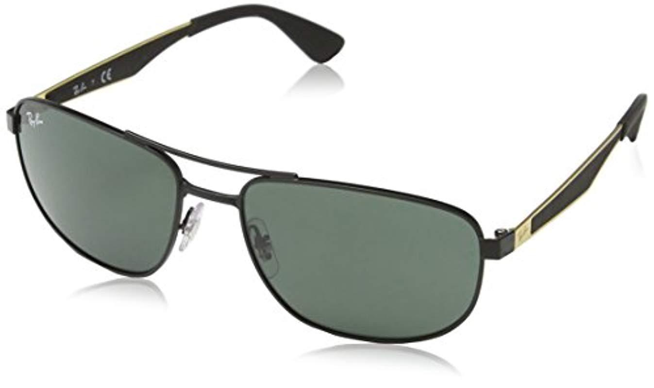 bf7feac9c3 Ray-Ban Metal Sunglasses In Matte Black Rb3528 191 71 58 in Black ...