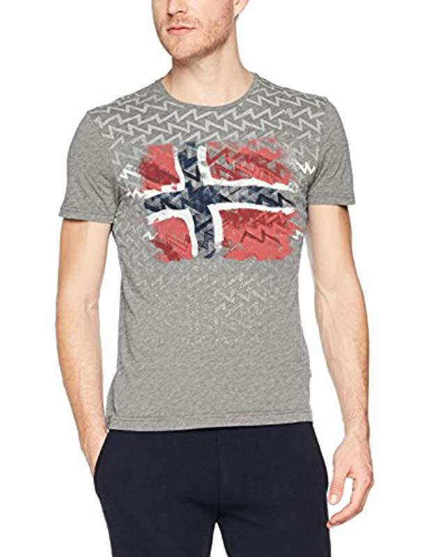 c9fd6a90e3 Napapijri Seol T-shirt in Gray for Men - Lyst