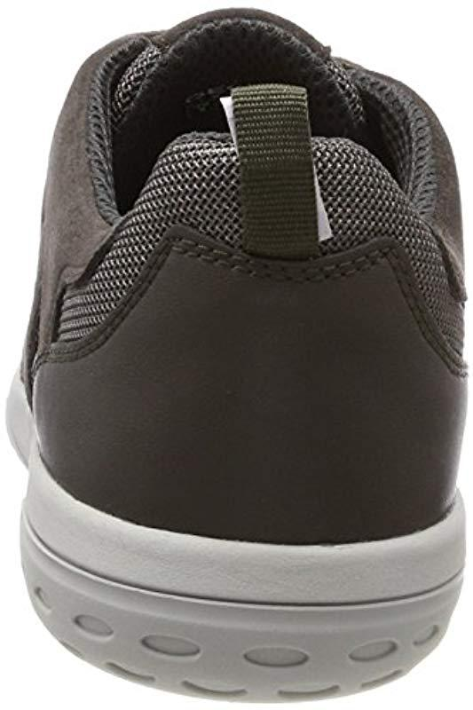 Geox U Mansel A Low-top Sneakers in Gray for Men - Lyst 579fc325411