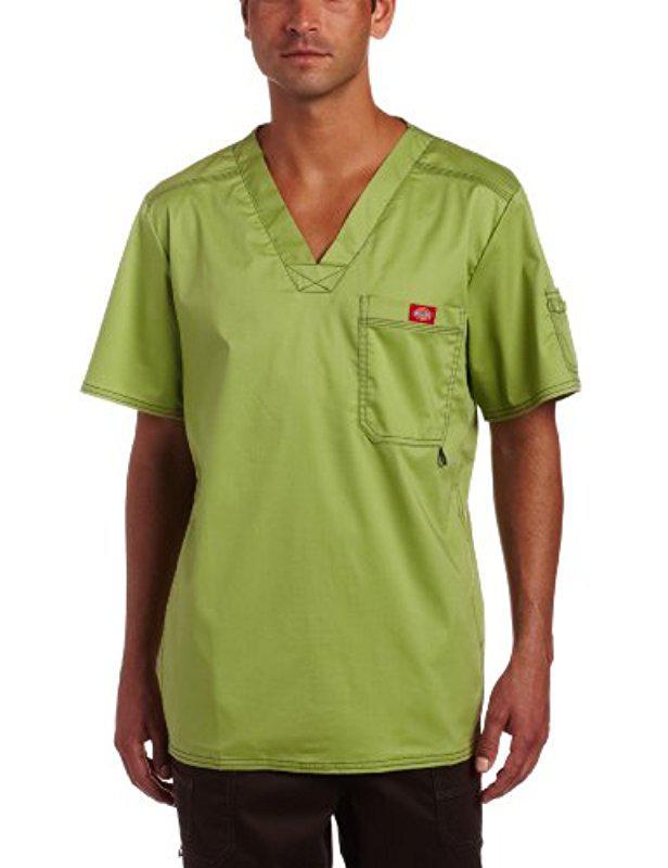 85bfbd692c3 Lyst - Dickies Generation Flex Youtility Scrub Top in Green for Men ...