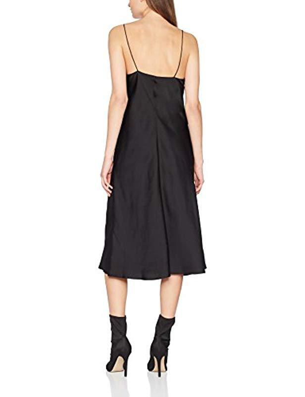 8cf0bdd7308 Filippa K Satin Slip Dress Party in Black - Save 9% - Lyst