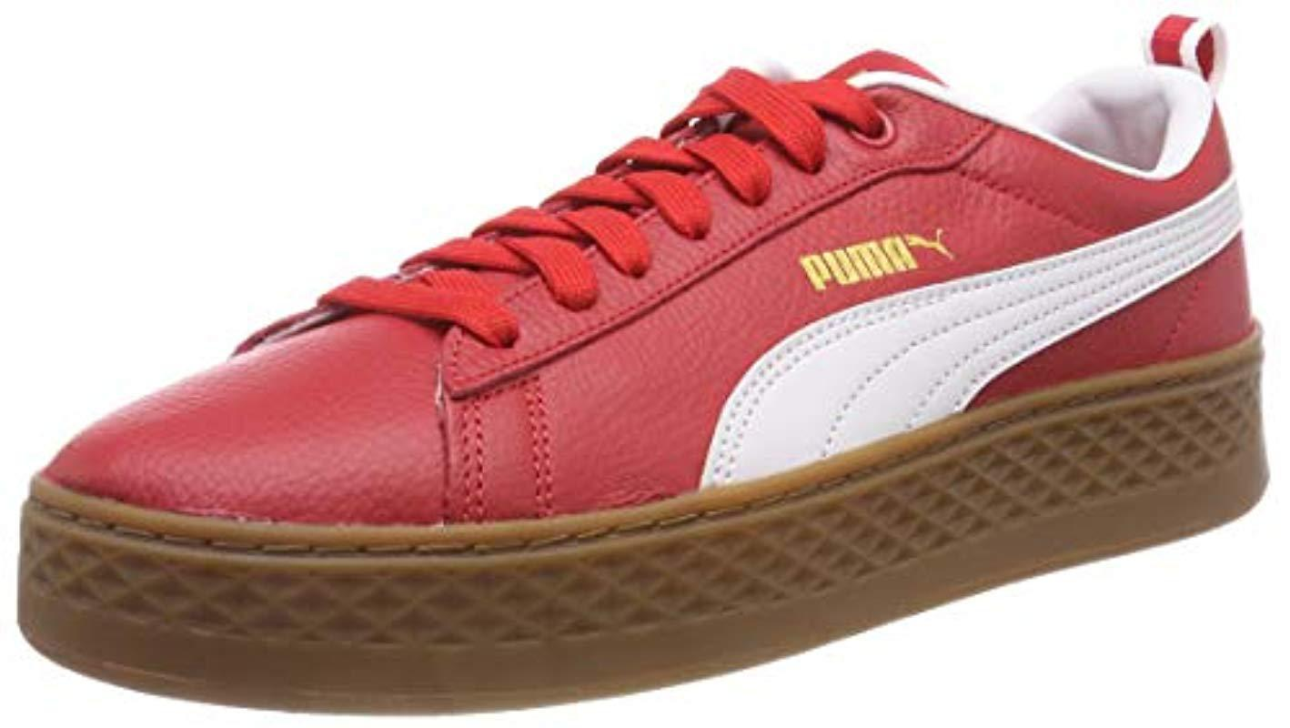 6504c6075bab40 PUMA  s Smash Platform Vt Low-top Sneakers in Red - Lyst