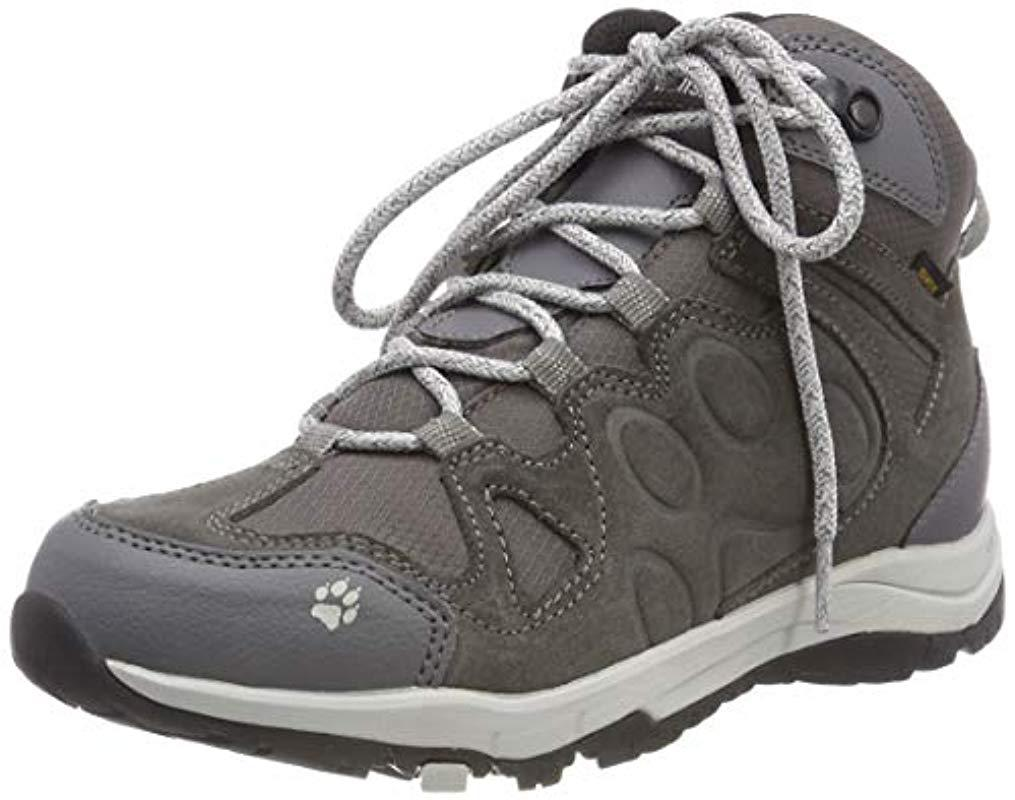 589ebba163f Jack Wolfskin Rocksand Texapore Mid W High Rise Hiking Shoes in Gray ...