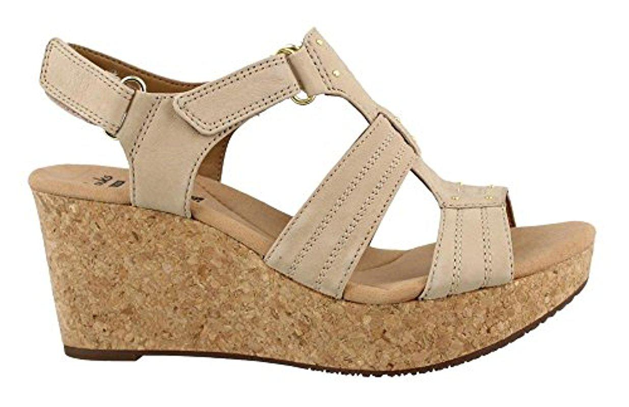 ddded1d9f53 Lyst - Clarks Annadel Orchid Wedge Sandal in Natural