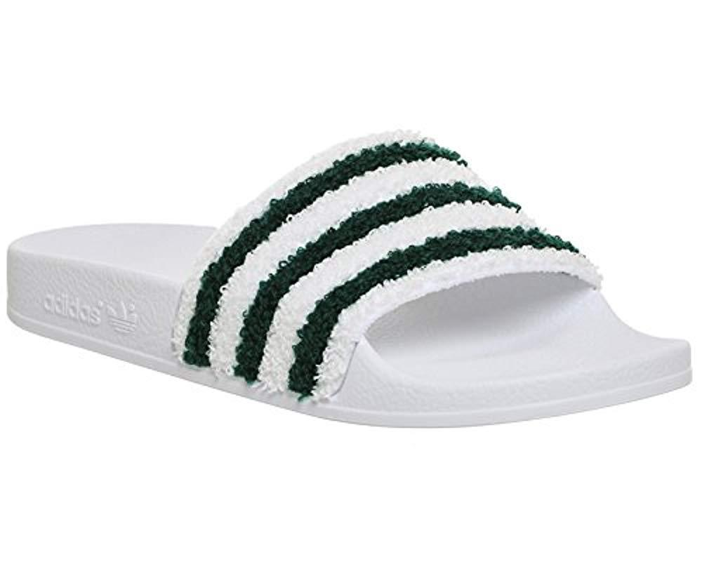 reputable site 67325 9e658 adidas. Green Adilette, Unisex Adults Beach  Pool Shoes